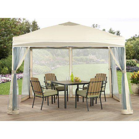 Ozark Trail 10 X 10 Straight Leg Instant Tailgate Canopy Walmart Com Instant Canopy Canopy Tent Gazebo