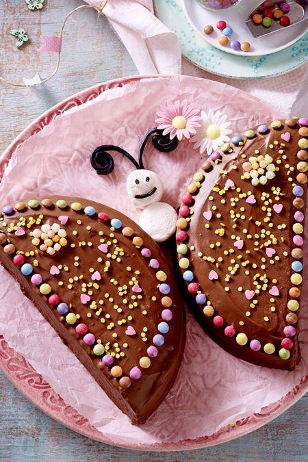 Nutella Schmetterlings Kuchen Schmetterling Kuchen Kuchen Kindergeburtstag Und Nutella
