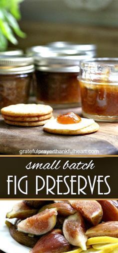 Fig preserves made from figs harvested from backyard fig tree is easy to make and delicious on muffins, toast and even with crackers and cheese. Fig Recipes, Jelly Recipes, Canning Recipes, Canning 101, Pancake Recipes, Crepe Recipes, Pressure Canning, Chutney Recipes, Simple Recipes