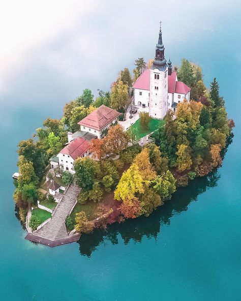 Church on Lake Bled, Slovenia