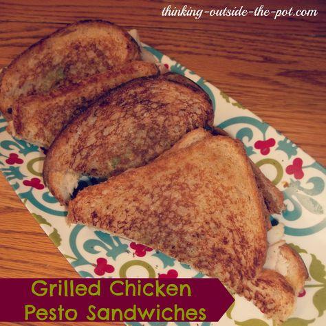 Grilled Chicken Pesto Sandwiches