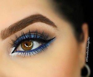 Beautiful Blue Eyeshadow Looks! Makeup Blog, Makeup Tips, Hair Makeup, Eyeshadow Looks, Eyeshadow Makeup, Blue Eyeshadow, Bohemian Makeup, Beauty Make-up, High End Makeup