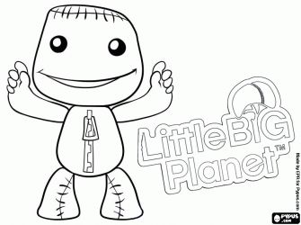 Little Big Planet Geek Stuff Pinterest Planets And Silhouettes Coloring Page Big Planet