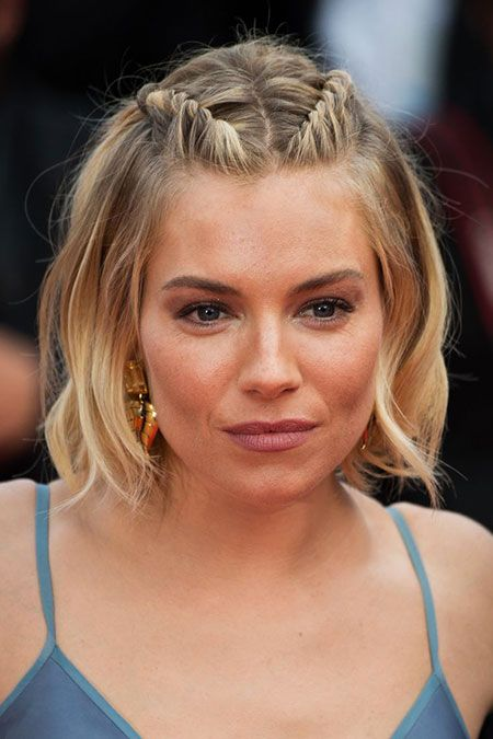 2 French Braids On Top Of Head Formal Hairstyles For Short Hair Long Hair Styles Short Hair Styles Easy