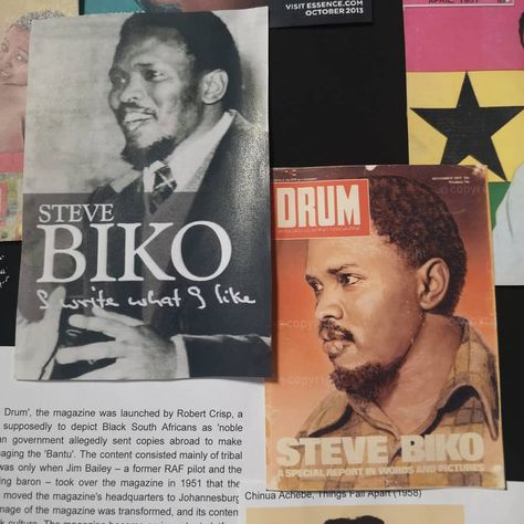 Steve Biko 💔💔💔 anti-apartheid activist 1946-1977 killed while in prison... South African History... Press cuttings at Zeitz MOCAA, Museum of Contemporary Art Africa ♥️💚💜💚💙 #stevebiko #southafrica #politician #activist #history ##press #africa #bikobecause #learning #sharing #zeitzmocaa #♥ #travel