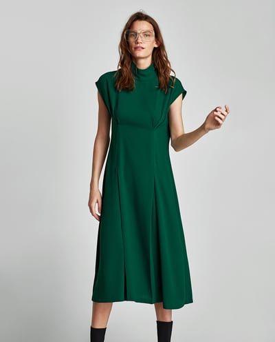 d4c8928f06 PLEATED MIDI DRESS-DRESSES-WOMAN | ZARA Spain | Fashion | Dresses ...