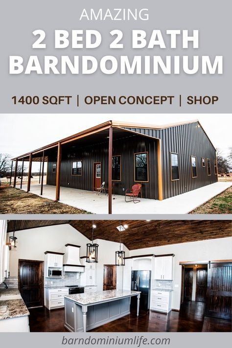 Barn Homes Floor Plans, Metal House Plans, Barndominium Floor Plans, Pole Barn House Plans, Pole Barn Homes, Shop House Plans, Barn Plans, Dream House Plans, Small House Plans