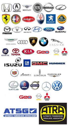 Car Makes And Models Transmission Repair Transmission Repair Shop Car Logos With Names