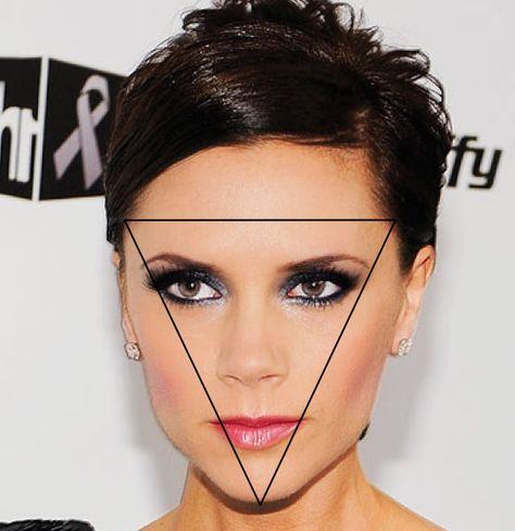7. Gezichtsvorm: omgekeerde driehoek.  Een omgekeerde driehoekvormig gezicht heeft een breed voorhoofd en een smalle kaaklijn en kin. Neem een pony, dit maakt het voorhoofd optisch minder breed. Laat je haar bot knippen op kaaklijn of net eronder. Draag je haar in een diagonale zijscheiding en zorg dat je lagen in je gezicht hebt. Style je haar met golven om de kaaklijn breder te laten lijken. Laat jouw haren niet te veel verknippen of te stijl drogen, zo maak je je gezicht extra lang en je…