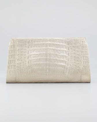 Metallic Crocodile Clutch Bag by Nancy Gonzalez at Bergdorf Goodman.