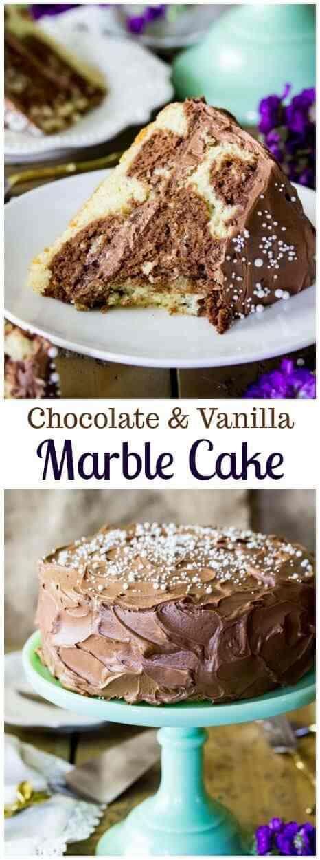 Chocolate and Vanilla Marble Cake from Sugar Spun Run!