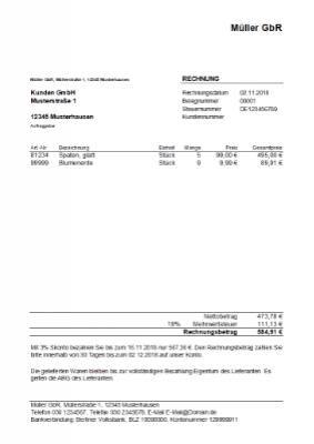 Excel Rechnung Vorlagen Hier Herunterladen Formularbox De In 2020 Rechnung Vorlage Vorlagen Rechnung