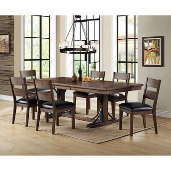 Whalen Sasha 7 Piece Dining Room Set Interior Design Dining Room Brown Dining Room Dining Room Furniture Modern