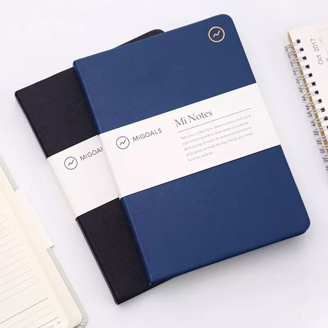Assorted A6 /'Notable/' Soft Leather Look Professional Notebook Lined Notepad