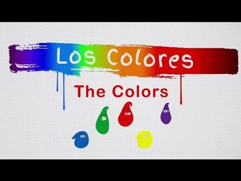 Los Colores: The Colors in Spanish Song by Risas y Sonrisas Spanish for Kids - YouTube  How fun and easy the colors in Spanish!   The music in this video is just one of the elements used in the Spanish for Kids curriculum. Make sure to activate the vocabulary with games, movement (sign & sing) and practical conversations.  Please check our website for materials and more activities to link with our videos at http://www.spanishforkids.com