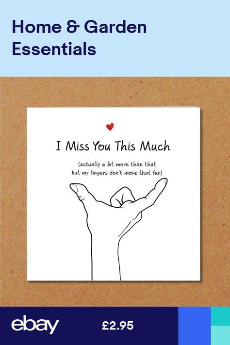 LOVE YOU Birthday Valentine Anniversary Card Husband Boyfriend Miss You Funny