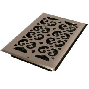 Decor Grates 6 In X 10 In Brushed Nickel Steel Scroll Wall
