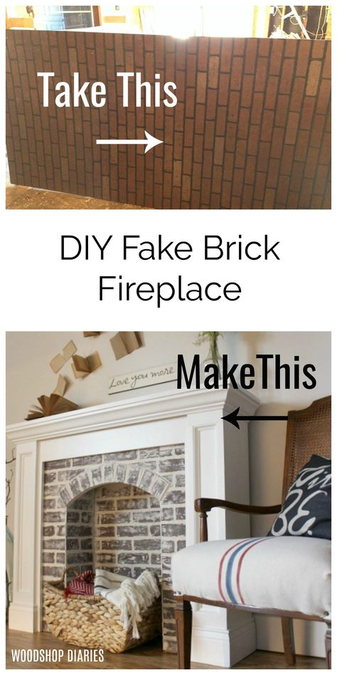 If You Re Going To Make It You Better Fake It Diy Fake Brick