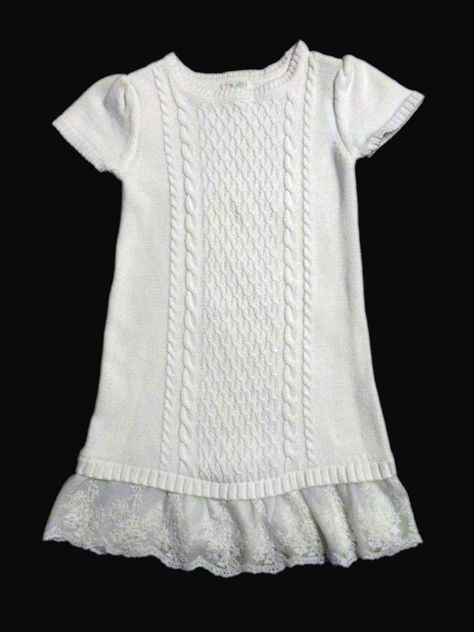 e5dd83a0f9f M 7 8 The Children s Place ivory off white cable sweater dress lace ruffle  7 8  TheChildrensPlace  SweaterDress  FreeSpiritFamilyFinds