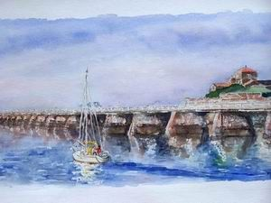 Tableaux Aquarelle Marines Ports Paysages Vendee Normandie
