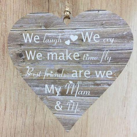 Mum Christmas Gifts Mum Me Mother Daughter Poem Heart Rustic
