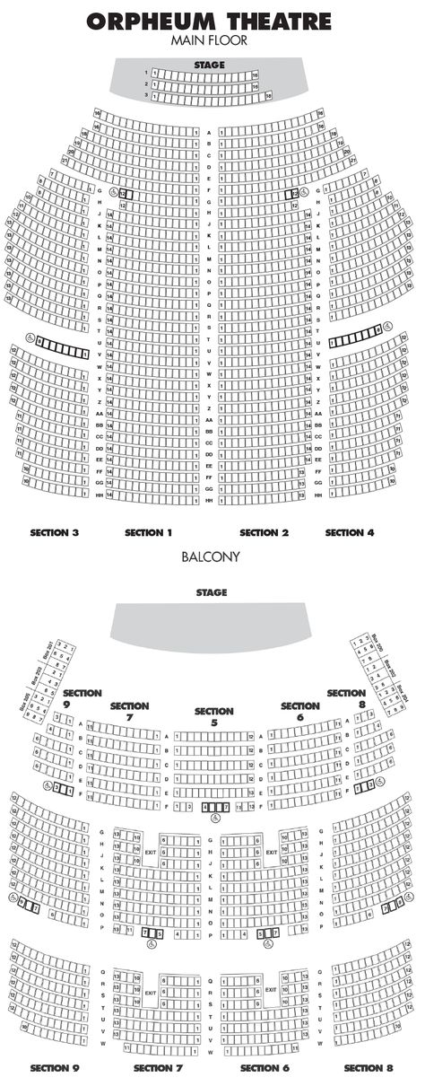 Orpheum Theatre Seating Chart Seating Charts Theater Seating State Theatre