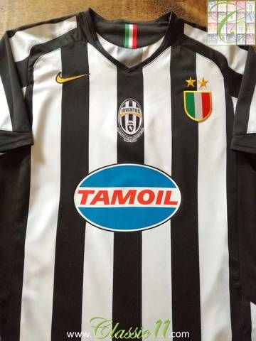 newest 37740 4a7c4 Official Nike Juventus home football shirt from the 2005/06 ...