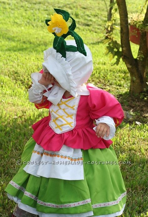 Cute Homemade Toddler Costume: Munchkin from Wizard of Oz...