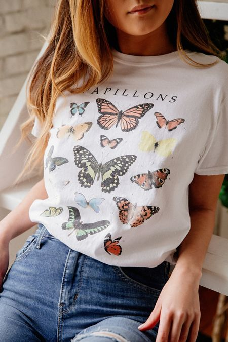 Truly Madly Deeply Butterfly Cropped Tee