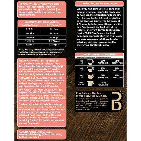 Pure Balance Grain Free Salmon And Pea Recipe Food For Dogs 4lbs