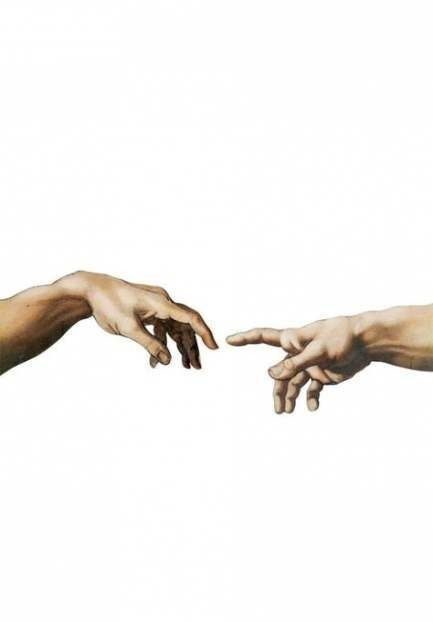 Hands Almost Touching Painting : hands, almost, touching, painting, Deysi, Macias, Inspo, Painting, Wallpaper,, Aesthetic, Painting,, Michelangelo