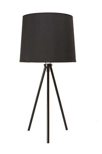 Newhouse Lighting Nhdk Al Bk Alexandria Tripod Table Lamp Black Review Tripod Table Lamp Lamp Table Lamp