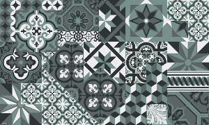 Tapis Vinyle Carreaux De Ciment Leon Gris Orage Vinyle Carreaux De Ciment Carreau De Ciment Design De Salle De Bain