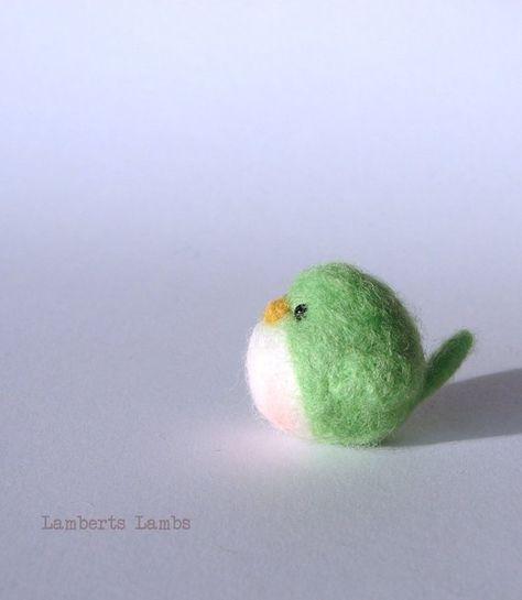 Gefilzte Vogel Vogel in grün Wolle Vogel gefilzt | Etsy