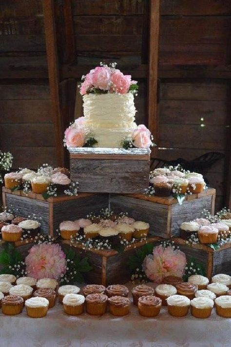 Rustic Cake Stand - , rustic wedding cake stand , wood cupcake stand , rustic wedding , we Wood Cupcake Stand, Rustic Cupcake Stands, Rustic Cupcakes, Wedding Cakes With Cupcakes, Cupcake Cakes, 6 Cake, Cupcake Wedding Display, Rustic Cupcake Display, Cupcake Stands For Weddings