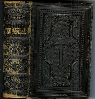 Die Bibel 1900 German Bible Hand-tooled Leather