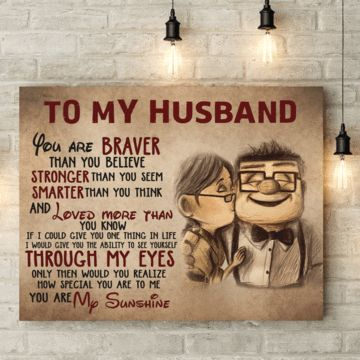 To My Husband Canvas