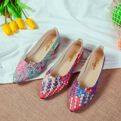 Women Casual Multicolor Flats   Flats, Heels outfits