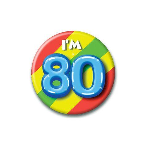 zwartepiet Speldje I am 80 Verjaardags...