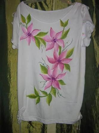 Resultado De Imagen Para Blusas Pintura En Tela Pinturaentela Pintura En Tela Flores Pintura En Tela Dibujos En Tela
