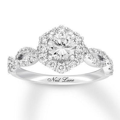 Neil Lane Diamond Engagement Ring 1 1 4 Ct Tw 14k White Gold Kay