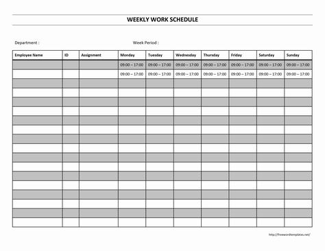Blank+Weekly+Work+Schedule+Template business Pinterest - employee timesheet