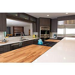 Hardwood Reflections 50inx25inx1 5in Wood Butcher Block Countertop