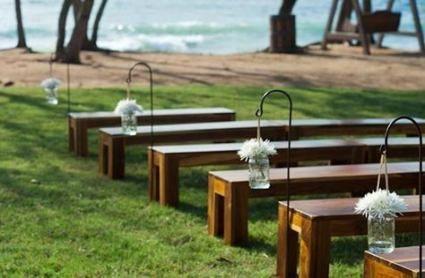 Trendy Wedding Ceremony Benches Decor 24 Ideas Wedding Bench Decor Outdoor Wedding Ceremony Wedding Floral Centerpieces