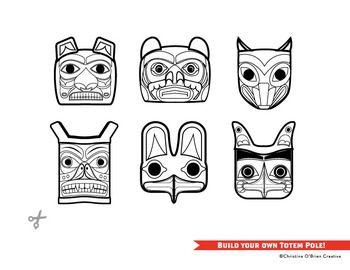 Build Your Own Totem Pole Craft Printable By Christine O Brien Creative Teachers Pay Teachers Totem Pole Craft Totem Pole Art Native American Totem