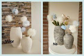 Uitgelezene De betonlook: potten bewerkt met muurvuller (2) | Zelfgemaakte YP-83