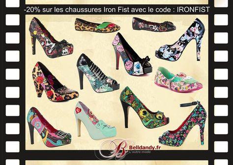 Envie d'une paire de chaussures de la célèbre marque Iron Fist ??  Profitez de -20% avec le code : IRONFIST  http://www.belldandy.fr/mode/chaussures-femme-homme.html?marque=774 #rockabilly #pinup #hauttalons #heels #ironfist #sexy https://www.facebook.com/belldandy.fr/photos/a.338099729399.185032.327001919399/10154456632144400/?type=3