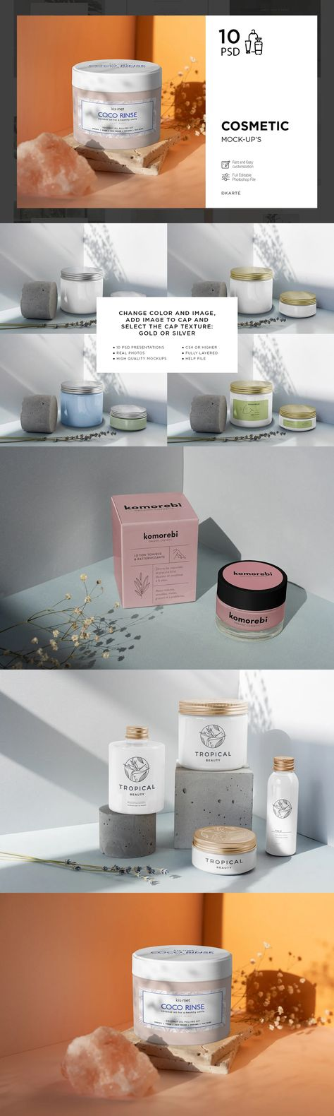 Cosmetic Mock-Up's 10 PSD
