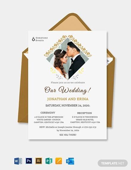Photo Wedding Invitation Template Free Pdf Word Psd Apple Pages Google Docs Illustrator Publisher Outlook Photo Wedding Invitations Wedding Invitation Templates Wedding Invitations