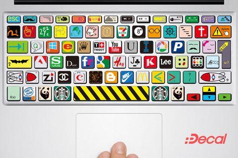 UK MacBook Sticker MacBook Decal Keyboard Decal Skin Air Pro Retina 13 15 | eBay